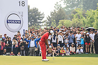 Ashun Wu (CHN) during the final round of the Volvo China Open played at Topwin Golf and Country Club, Huairou, Beijing, China 26-29 April 2018.<br /> 29/04/2018.<br /> Picture: Golffile | Phil Inglis<br /> <br /> <br /> All photo usage must carry mandatory copyright credit (&copy; Golffile | Phil Inglis)