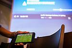 im Bild: Probleme bei Sky Übertragung, Störung, Sky wird per Mobiltelefon übertragen, Jürgen L. Born (ehemaliger Vorsitzender des Vorstandes Werder Bremen) schaut zu, <br /><br />Sport: nphgm001: Fussball: 1. Bundesliga: Saison 19/20: 34. Spieltag: SV Werder Bremen vs 1.FC Koeln 27.06.2020 <br /><br />Foto: Rauch/gumzmedia/nordphoto<br /><br />EDITORIAL USE ONLY
