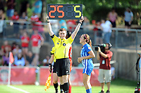 Boyds, MD - Saturday August 12, 2017: Amanda DaCosta, JC Griggs during a regular season National Women's Soccer League (NWSL) match between the Washington Spirit and The Boston Breakers at Maureen Hendricks Field, Maryland SoccerPlex.