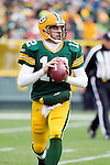 Green Bay Packers quarterback Aaron Rodgers (12) looks for a receiver during a Week 11 NFL football game against the Tampa Bay Buccaneers on November 20, 2011 in Green Bay, Wisconsin. The Packers won 35-26. (AP Photo/David Stluka)