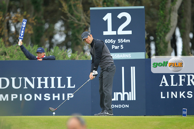 Paul Casey (ENG) during Round 2 of the Alfred Dunhill Links Championship at Kingsbarns Golf Club on Friday 27th September 2013.<br /> Picture:  Thos Caffrey / www.golffile.ie