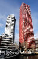 Rotterdam- Hoogbouw in het centum. The Red Apple