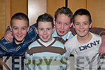 HERO: Kieran ODonoghue, Barry Warren, Gavin Kelly and Brian ODonoghue celebrate their Hero at the Seamus Moynihan tribute in the Killarney Great Southern Hotel last Friday night..
