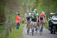 Thomas Voeckler (FRA/Europcar), Tim Wellens (BEL/Lotto-Belisol), Pieter Weening (NLD/Orica-GreenEDGE) &amp; company up the 'steepest climb' in Holland: Keutenberg (22%)<br /> <br /> Amstel Gold Race 2014