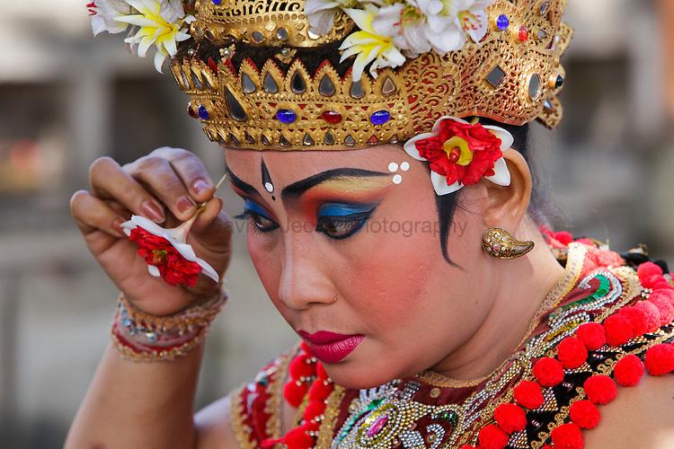 Barong dancers on Bali island of Indonesia