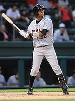 Infielder Garabez Rosa (32) of the Delmarva Shorebirds, No. 27 top prospect of the Baltimore Orioles, in a game against the Greenville Drive on Opening Day, April 8, 2010, at Fluor Field at the West End in Greenville, S.C. He was named to the 2010 South Atlantic League All-Star team. Photo by: Tom Priddy/Four Seam Images