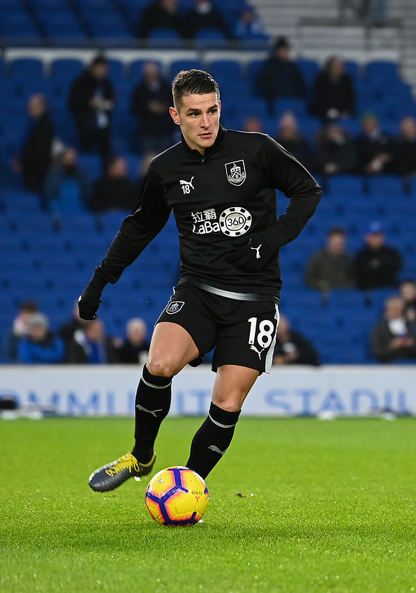 Burnley's Ashley Westwood<br /> <br /> Photographer David Horton/CameraSport<br /> <br /> The Premier League - Brighton and Hove Albion v Burnley - Saturday 9th February 2019 - The Amex Stadium - Brighton<br /> <br /> World Copyright © 2019 CameraSport. All rights reserved. 43 Linden Ave. Countesthorpe. Leicester. England. LE8 5PG - Tel: +44 (0) 116 277 4147 - admin@camerasport.com - www.camerasport.com