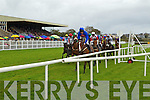 Action from the 4.50 Race at Listowel Races, Ladies Day on Friday