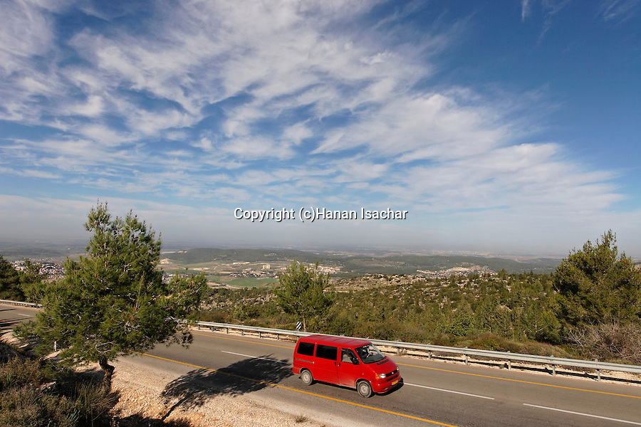Israel, Jerusalem Mountains, Road 3866 from Beth Shemesh to Bar Giora