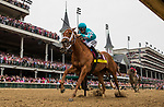 LOUISVILLE, KY - MAY 04: Monomoy Girl #14 with Florent Geroux wins the Longines Kentucky Oaks at Churchill Downs on May 4, 2018 in Louisville, Kentucky. (Photo by Alex Evers/Eclipse Sportswire/Getty Images)