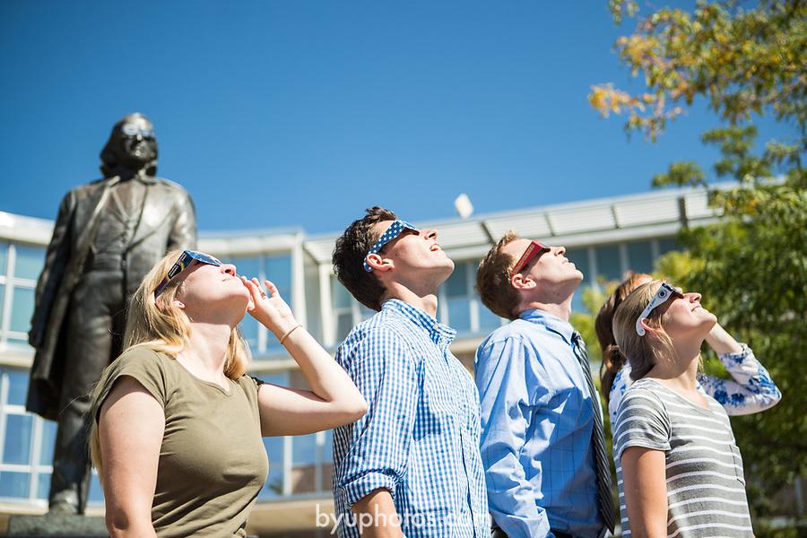 Eclipse_11<br /> <br /> Solar Eclipse on BYU Campus<br /> <br /> August 21, 2017<br /> <br /> Photography by Savanna Richardson/BYU<br /> <br /> &copy; BYU PHOTO 2017<br /> All Rights Reserved<br /> photo@byu.edu  (801)422-7322
