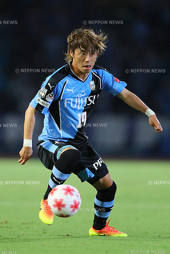 Kentaro Moriya (Frontale), <br /> SEPTEMBER 3, 2016 - Football / Soccer : <br /> The 96th Emperor's Cup All Japan Football Championship <br /> between Kawasaki Frontale 3-1 Blaublitz Akita <br /> at Kawasaki Todoroki Stadium, Kanagawa, Japan. <br /> (Photo by YUTAKA/AFLO SPORT)