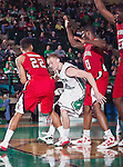 North Texas Mean Green guard Tyler Hall (33) in action during the game between the Louisiana Lafayette Ragin Cajuns and the University of North Texas Mean Green at the North Texas Coliseum,the Super Pit, in Denton, Texas. Louisiana Lafayette defeats UNT 57 to 53.