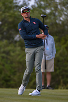 Adam Scott (AUS) watches his tee shot on 15 during Round 1 of the Valero Texas Open, AT&amp;T Oaks Course, TPC San Antonio, San Antonio, Texas, USA. 4/19/2018.<br /> Picture: Golffile | Ken Murray<br /> <br /> <br /> All photo usage must carry mandatory copyright credit (&copy; Golffile | Ken Murray)