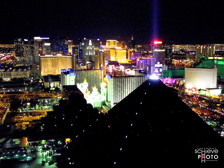 Las Vegas at night from the 64th floor of The Hotel.