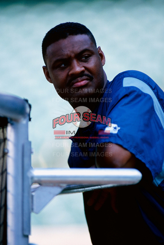 Ken Hill of the Anaheim Angels plays in a baseball game at Edison International Field during the 1998 season in Anaheim, California. (Larry Goren/Four Seam Images)