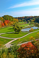 A fall view of the scenic Glen Abbey golf course in Oakville.