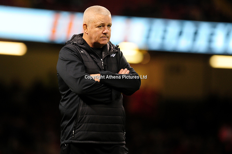 Barbarians head coach Warren Gatland during the International friendly match between Wales and Barbarians at the Principality Stadium in Cardiff, Wales, UK. Saturday 30 November 2019.