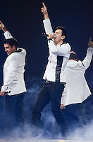 Jordan Knight and Jonathan Knight of The New Kids on The Block perform sat BB&T Center during The Package Tour 2013, Sunrise, Florida, June 22, 2013