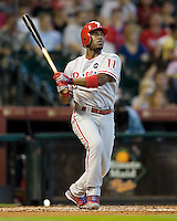 Rollins, Jimmy 5625.jpg Philadelphia Phillies at Houston Astros. Major League Baseball. September 6th, 2009 at Minute Maid Park in Houston, Texas. Photo by Andrew Woolley.