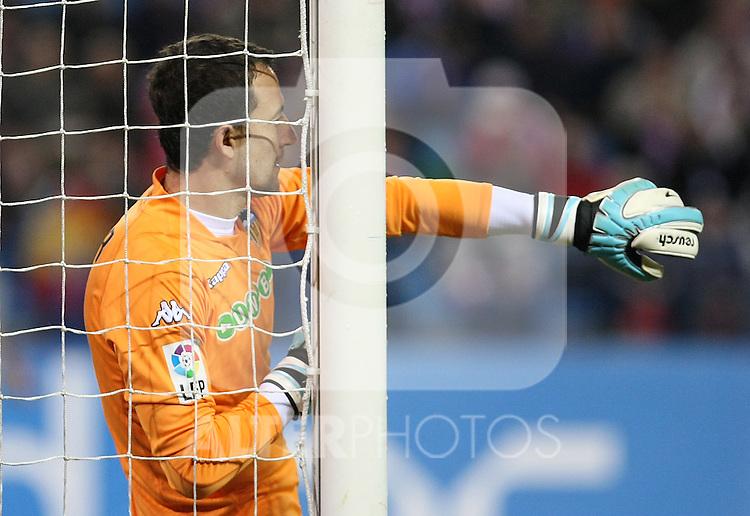 Valencia's Cesar Sanchez during La Liga match.(ALTERPHOTOS/Acero)