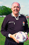 AF5GM4 Football referee holding a soccer ball