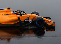 FERNANDO ALONSO (ESP) of McLaren during Day 4 of the 2018 Formula 1 Testing at the Circuit de Catalunya, Barcelona. on 1st March 2018. Photo by Vince  Mignott.