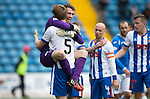 Kilmarnock v St Johnstone...19.09.15  SPFL Rugby Park, Kilmarnock<br /> Substitute keeper Conor Brennan shows his delight at full time<br /> Picture by Graeme Hart.<br /> Copyright Perthshire Picture Agency<br /> Tel: 01738 623350  Mobile: 07990 594431