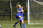 Central Mountain High School soccer players celebrate after a goal scored.