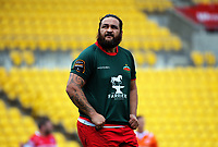 Piri Weepu watches a replay during the Heartland Championship rugby match between Horowhenua Kapiti and Wairarapa Bush at Westpac Stadium in Wellington, New Zealand on Sunday, 1 October 2017. Photo: Dave Lintott / lintottphoto.co.nz