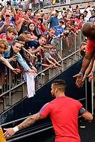 East Hartford, CT - Saturday July 01, 2017: Dom Dwyer, fans during an international friendly match between the men's national teams of the United States (USA) and Ghana (GHA) at Pratt & Whitney Stadium at Rentschler Field.