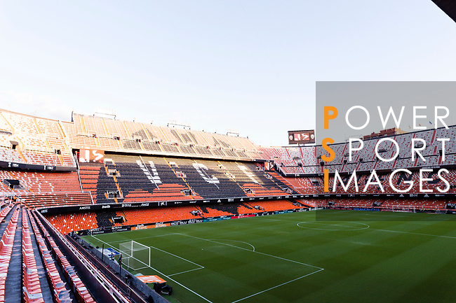 A view of Estadio de Mestalla during the UEFA Champions League 2018-19 match between Valencia CF and FC Barcelona on October 07 2018 in Valencia, Spain. Photo by Maria Jose Segovia Carmona / Power Sport Images