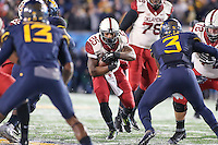 Morgantown, WV - November 19, 2016: Oklahoma Sooners running back Joe Mixon (25) runs the ball during game between Oklahoma and WVU at  Mountaineer Field at Milan Puskar Stadium in Morgantown, WV.  (Photo by Elliott Brown/Media Images International)