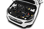 Car stock 2018 Subaru Outback Premium 5 Door Wagon engine high angle detail view