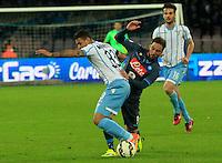 Gonzalo Higuain  durante l'incontro di ritorno della semifinale  Tim Cup tra     Napoli - Lazio allo  Stadio San Paolo  di Napoli ,08 Aprile  2015