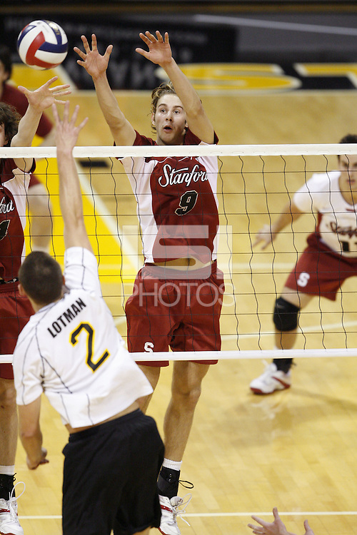 2 February 2007: Matt Ceran during Stanford's 3-0 loss to Long Beach State in Long Beach, CA.