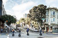A Segway tour with the San Francisco Electric Tour Company. San Francisco, California.