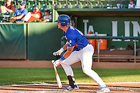 Matt Jones (40) of the Ogden Raptors at bat against the Idaho Falls Chukars in Pioneer League action at Lindquist Field on August 27, 2015 in Ogden, Utah. Ogden defeated the Chukars 4-3.  (Stephen Smith/Four Seam Images)