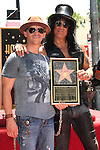 LOS ANGELES - JUL 10: Slash, Clifton Collins Jr at a ceremony where Slash is honored with the 2,473rd Star on the Hollywood Walk of Fame on July 10, 2012 in Los Angeles, California