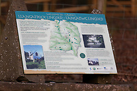 A local information board in Llangattock Lingoed near Abergavenny in Monmouthshire, Wales, UK. Wednesday 09 January 2019