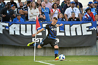 San Jose, CA - Wednesday June 13, 2018: Tommy Thompson during a Major League Soccer (MLS) match between the San Jose Earthquakes and the New England Revolution at Avaya Stadium.