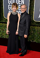 Steven Spielberg &amp; Kate Capshaw at the 75th Annual Golden Globe Awards at the Beverly Hilton Hotel, Beverly Hills, USA 07 Jan. 2018<br /> Picture: Paul Smith/Featureflash/SilverHub 0208 004 5359 sales@silverhubmedia.com