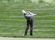 Potomac, MD - June 30, 2018: Tyler Duncan hits his second shot during Round 3 at the Quicken Loans National Tournament at TPC Potomac in Potomac, MD, June 30, 2018.  (Photo by Elliott Brown/Media Images International)