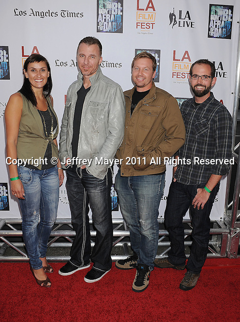 "LOS ANGELES, CA - JUNE 26: Sophia Tavernakis, Kirk Porter, Lance Dumais and Matt Irwin arrive at the ""Don't Be Afraid of The Dark"" Closing Night Gala screening during the 2011 Los Angeles Film Festival held at the Regal Cinemas L.A. LIVE on June 26, 2011 in Los Angeles, California."