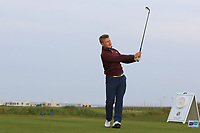Callum Morris (WAL) on the 1st tee during Round 1of the Flogas Irish Amateur Open Championship 2019 at the Co.Sligo Golf Club, Rosses Point, Sligo, Ireland. 16/05/19<br /> <br /> Picture: Thos Caffrey / Golffile<br /> <br /> All photos usage must carry mandatory copyright credit (© Golffile | Thos Caffrey)