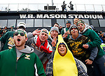EASTON, MA - NOVEMBER 20:  LIU Post fans before their game against Shippensburg University in the NCAA Division II Field Hockey Championship at WB Mason Stadium on November 20, 2016 in Easton, Massachusetts.  Shippensburg University defeated LIU Post 2-1 for the national title. (Photo by Winslow Townson/NCAA Photos via Getty Images)