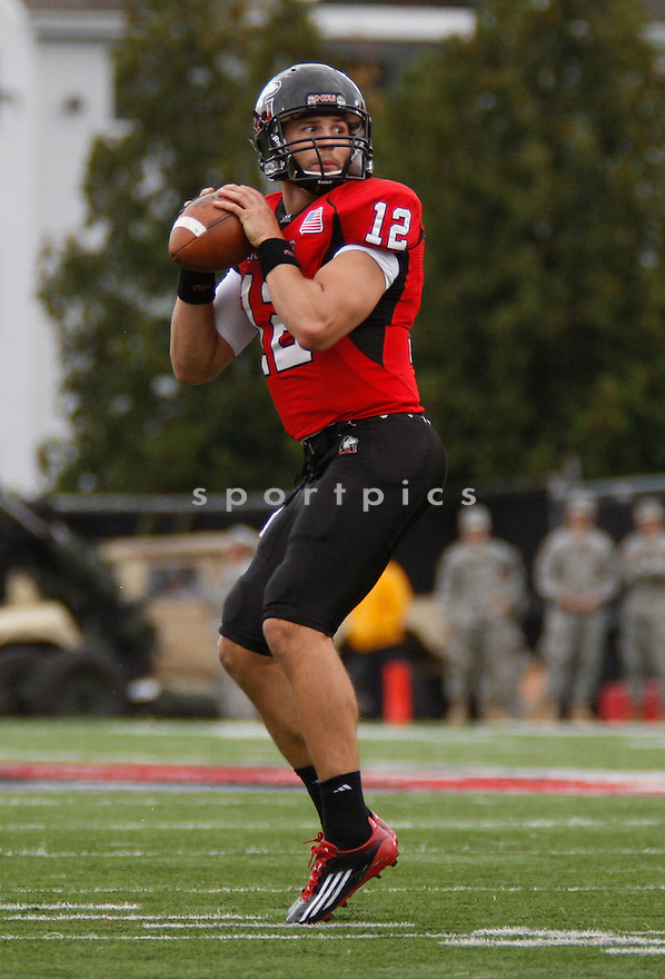 CHANDLER HARNISH, of the Northern Illinois Huskies, in action during NIU's game against the Cal Poly Mustangs on September 24, 2011 at Huskie Stadium in DeKalb, IL. NIU beat Cal Poly 47-30