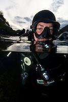 Fredrik Ihrs&eacute;n<br /> Atlantic marine life, Saltstraumen, Bod&ouml;, Norway<br /> Model release by photographer