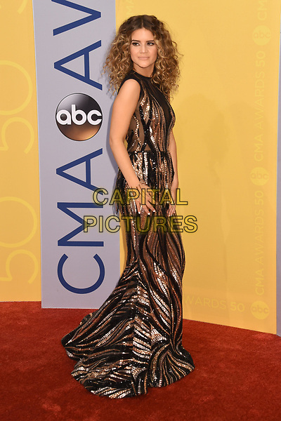 02 November 2016 - Nashville, Tennessee - Maren Morris. 50th Annual CMA Awards. Then. Now. Forever Country. 2016 CMA Awards, Country Music's Biggest Night. Arrivals held at Music City Center. <br /> CAP/ADM/LF<br /> &copy;LF/ADM/Capital Pictures