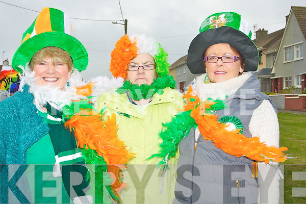 SENIOR:Mary Reilly, Margaret OConnor and Noreen Doherty who dressed up well for St Patyricks Day and marched in the St Patricks Day Parade in Ballybunion on Saturday...